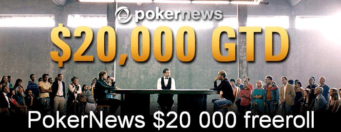 PokerNews  000 freerollile kvalifitseerumine kestab augusti lõpuni 101