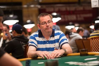 John Mcgill playing at the WSOP.