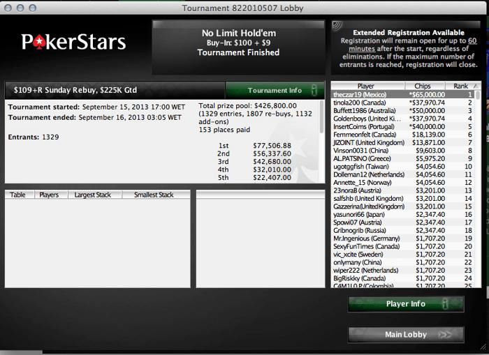 "Luso ""InsertCoims"" Ganha ,000 no Sunday Rebuy da PokerStars 101"