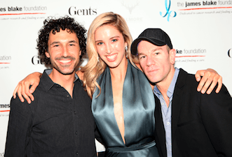 Ethan Zohn, Melissa Bolona and Josh Reed at the charity event
