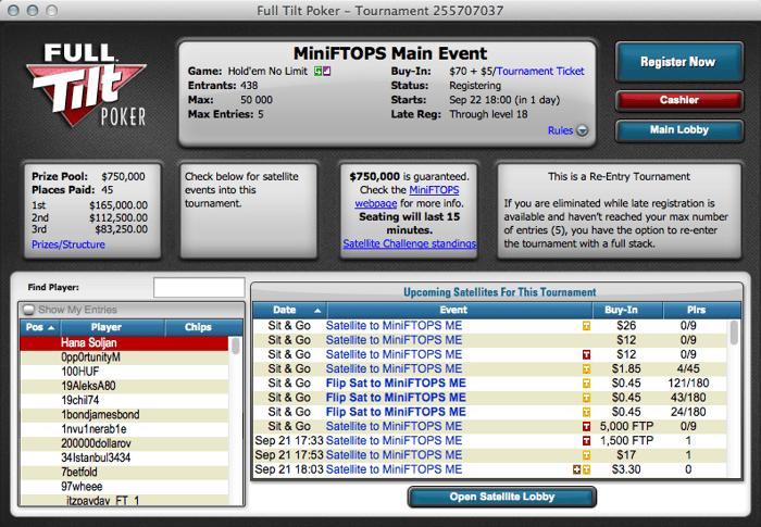 Mini Full Tilt Online Poker Series XXIII Terminam Hoje com mais de 0,000 em Jogo 101