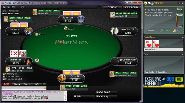 MagicHoldem working at PokerStars