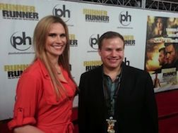 Sarah Grant and myself at the premiere