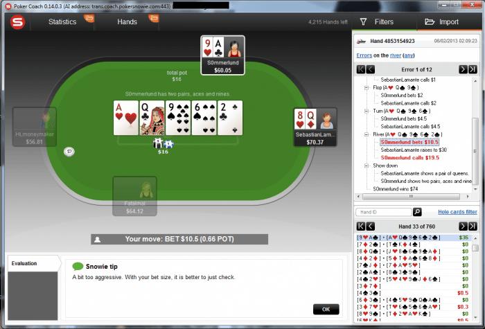 Arriva PokerCoach, il software per migliorare il gioco! 101
