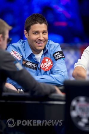 Ausmus at the Main Event final table