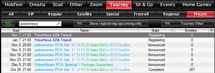 7. novembri PokerNews K freerollile kvalifitseerumine lõpeb neljapäeval 101