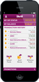 Χρησιμοποιήστε το Skrill μέσα από το κινητό σας για... 101