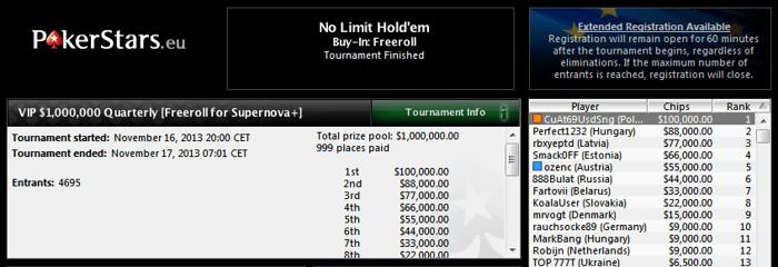 Polak wygrywa 0,000 na PokerStars imprezując! 101
