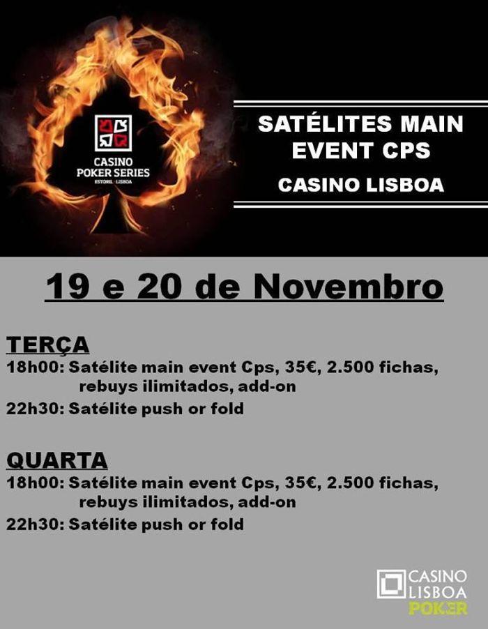 Main Event Casino Poker Series de 28 Novembro a 1 Dezembro 101