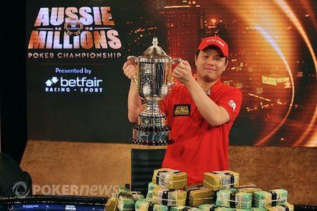Mervin Chan, winner of the 2013 Aussie Millions Main Event