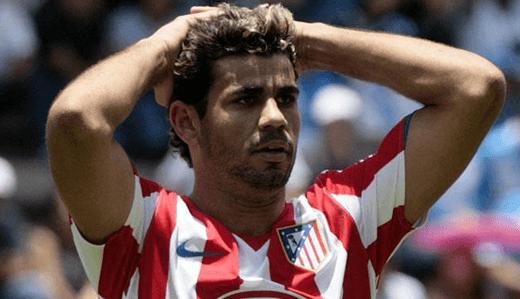 Diego Costa, triste por no tener a Bwin de patrocinador
