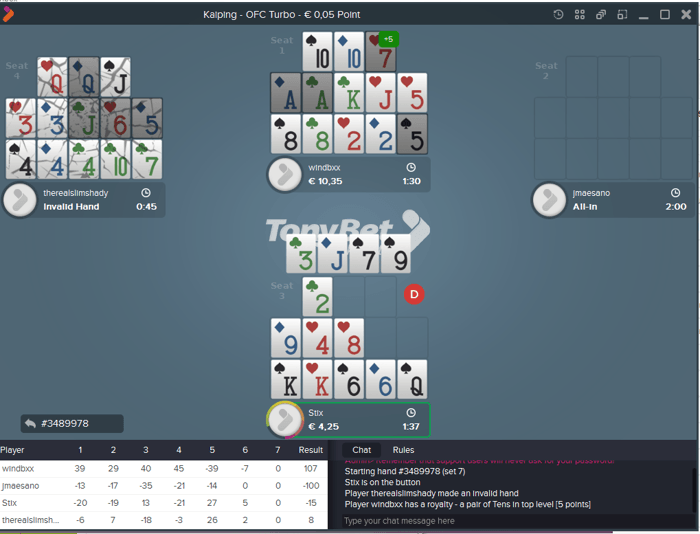 Play Three Exciting Open-Face Chinese Poker Variants on Tonybet! 101