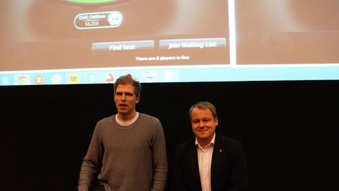 Amundsgard and Wiborg. Image courtesy of Frode Fagerli, poker.no.