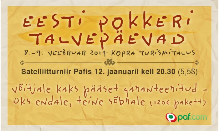 Pafi jaanuari pakkumised pokkerisõpradele 101
