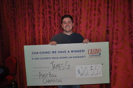 James Gallant wins 1st in Poker Bowl at Casino New Brunswick for $20,350.