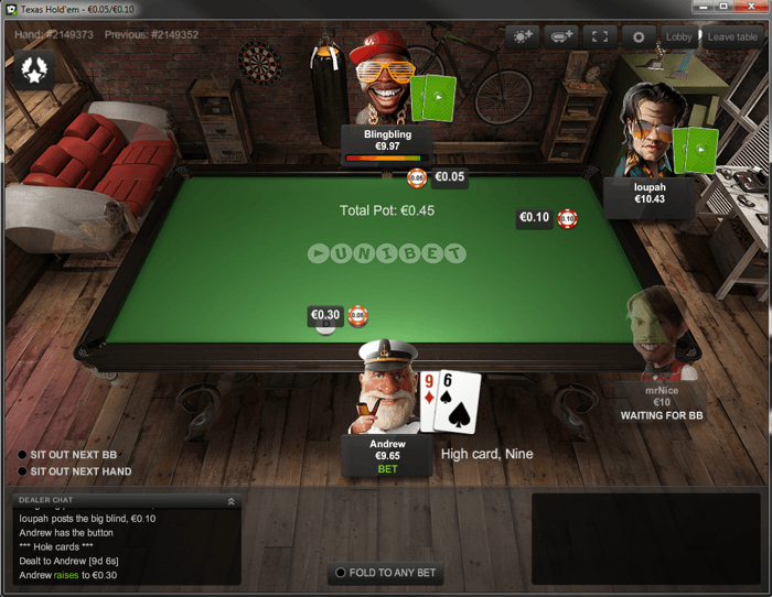 Unibet Releases New Poker Client to Attract Recreational Players 102