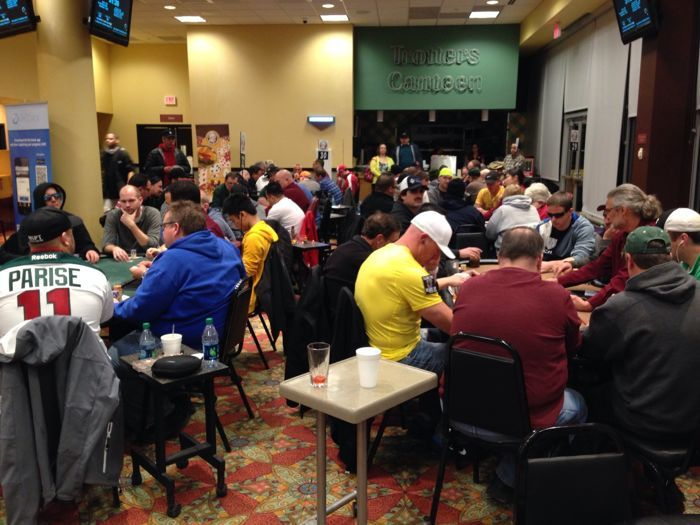 The $1,100 MSPT Main Event at Running Aces Harness Park drew 354 entrants