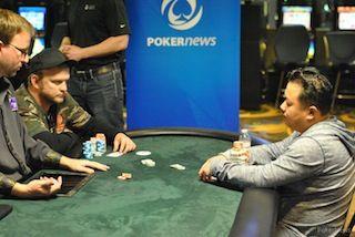 Shawn Schoreck and Kou Vang battle heads up.