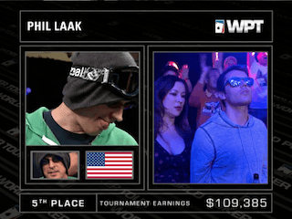 Phil Laak is eliminated.