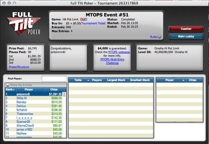 Micro Turbo Online Poker Series: Mais um Dia em Branco para os Lusos 101