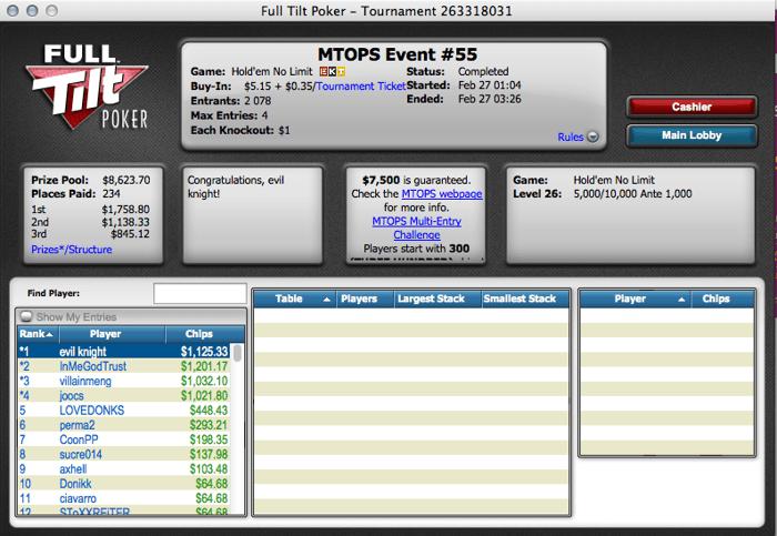 Micro Turbo Online Poker Series: Mais um Dia em Branco para os Lusos 105