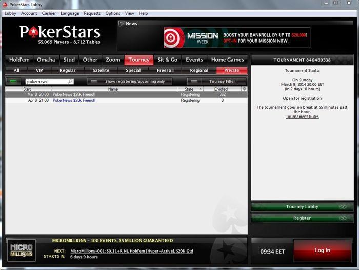 PokerNews ,000 фрийрол на 9 април в PokerStars 101