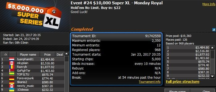 888poker 2017 Super XL Series Day 5: Germany's 'Xp3ctNoMerc1' Wins First Omaha Event 101