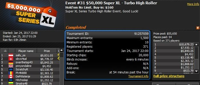888poker 2017 Super XL Series Day 6: Jonathan 'chut_up' Van Fleet Wins High Roller for... 101