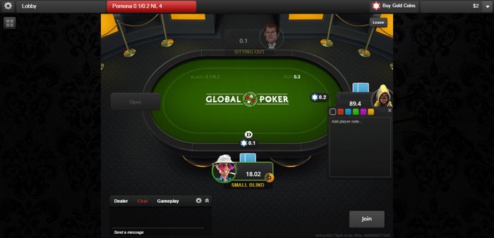Global Poker Table Watch