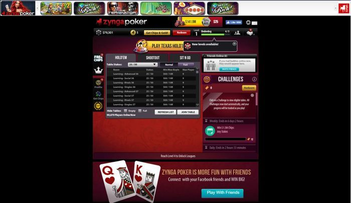 Zynga Facebook Poker App