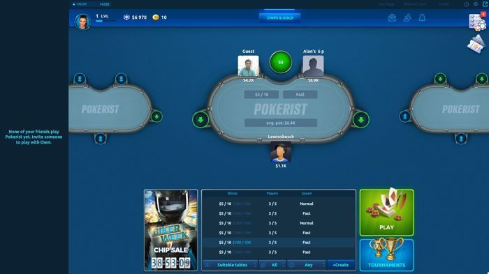 Pokerist Facebook Poker App