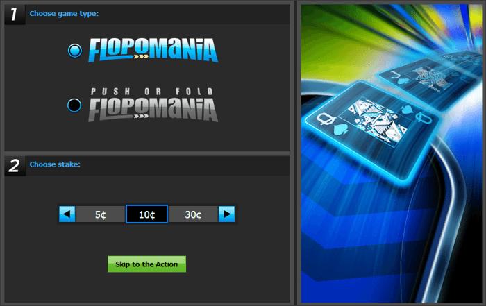 888poker Flopomania lobby