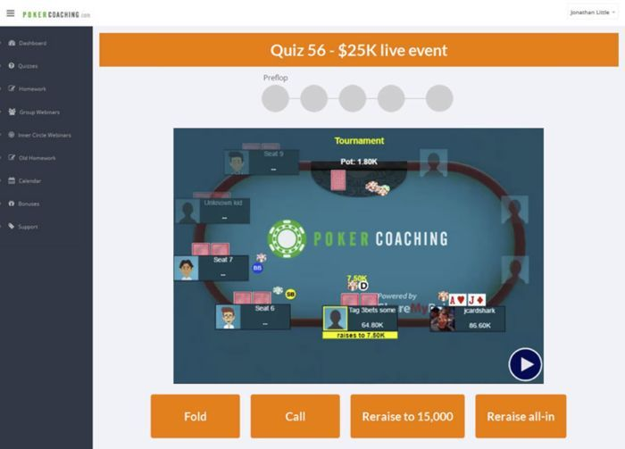Poker Coaching mit Jonathan Little: Bluff Catching 104