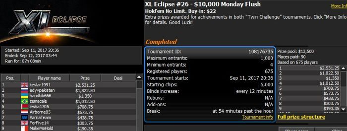 888poker XL Eclipse Tag 2: 'Tonkaaaa' schrammt knapp am Sieg vorbei 102
