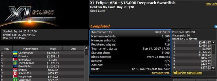 888poker XL Eclipse Day 5: 'Inho' Wins 0,000 Quarterback 101