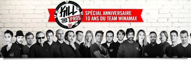 Le Team Pro Winamax fête ses 10 ans avec un Kill The Pros géant 101