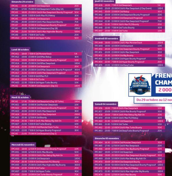 FPC8 : 130 tournois et une garantie de 2 millions sur PMU Poker 101