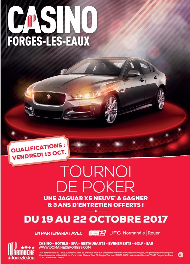 Forges-les-eaux : Gagnez une Jaguar XE en jouant au poker 101