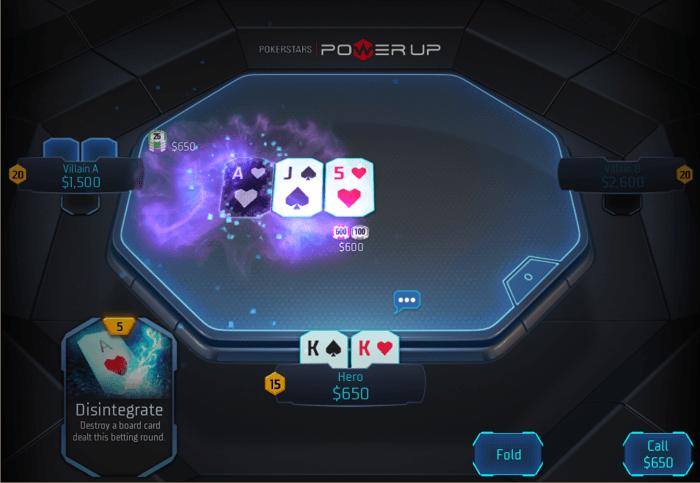 PokerStars Power Up play Disintegrate