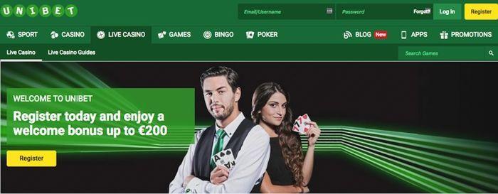 Unibet Casino live roulette games