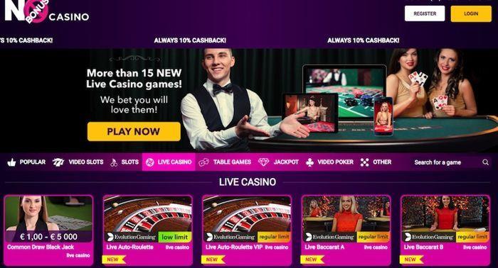 Live dealer roulette online no bonus casino