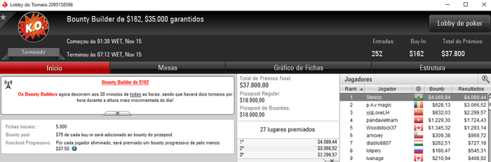 gusmaa, Steinzz e XAGRESSIVEX Destroem Bounty Builders do PokerStars 102