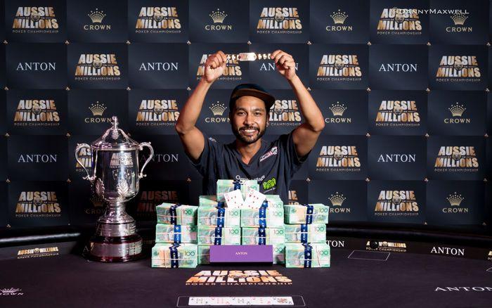 Shurane Vijayaram - $10,000 Main Event Aussie Millions Winner 2017