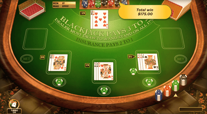 An exciting range of popular casino card games is available