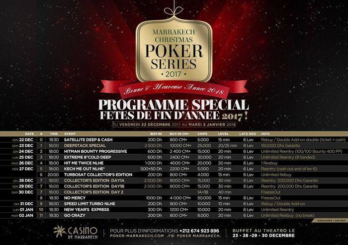 Christmas Poker Series : Noël à Marrakech 101