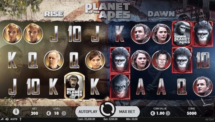 The top movie inspired slots of 2018: Planets of the Apes