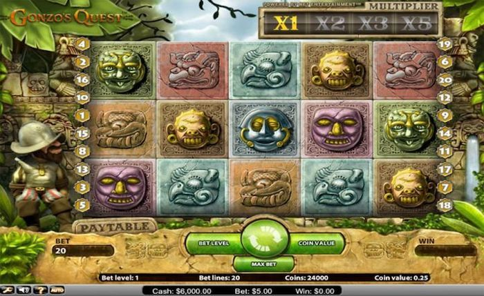 Gonzo's quest is another great type of slot machine game to play in 2018