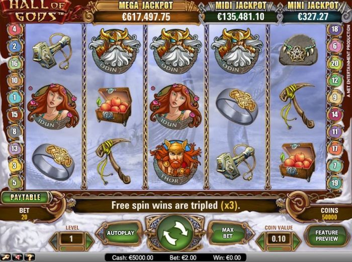 Hall of Gods is yet another great slots to play online in 2018