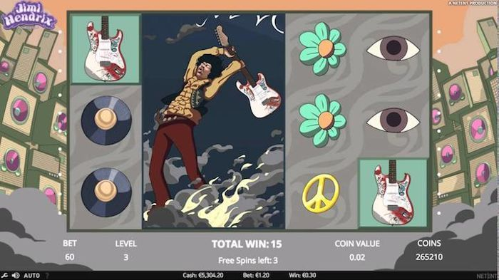 Jimi Hendrix Best Slots 2018