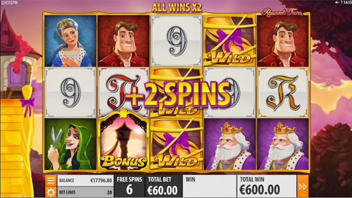 Rapunzel's Tower slot machine game for mobile